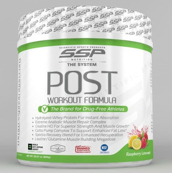 Ssp Nutrition, Inc. SSP Nutrition Post Workout Powder, Raspberry Lemonade, 1.37 Lb