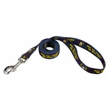 Country Brook Design® 5/8 Inch Course Be With You Dog Leash - 4 Foot