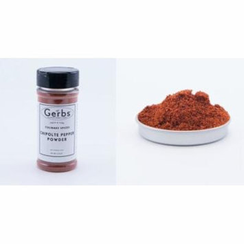 Chipotle Pepper Powder by Gerbs - 3.75 oz. Shaker Jar - Top 12 Food Allergen Free - Gourmet Chef Grade - Vegan & Kosher