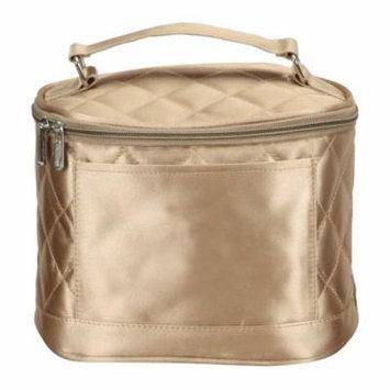 Preferred Nation Savvy Cosmetic Case Travel Accessory, Gold, Nylon
