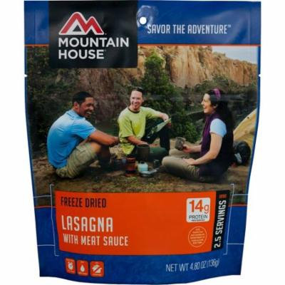 Lasagna with Meat Sauce - 2.5 Serving Entree, Protein: 14g By Mountain House