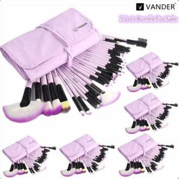(Wholesale 5set ) Purple 32 Pcs Makeup Brushes Set Professional Make up Brush Pinceaux Cosmetics Foundation Eyeliner Lip Maquiagem + Pouch Bag