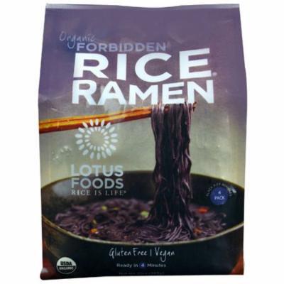 Lotus Foods Organic Rice Ramen Noodles Forbidden -- 10 oz pack of 6