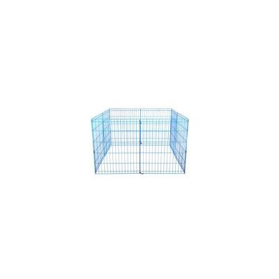 30 Tall Dog Blue Playpen Crate Fence Pet Kennel Play Pen Exercise Cage -8 Panel