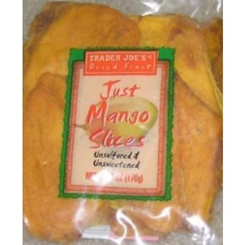 Trader Joe's Dried Fruit Just Mango Slices 6 ounces