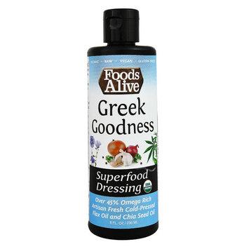 Foods Alive Organic Superfood Dressing Greek Goodness -- 8 fl oz