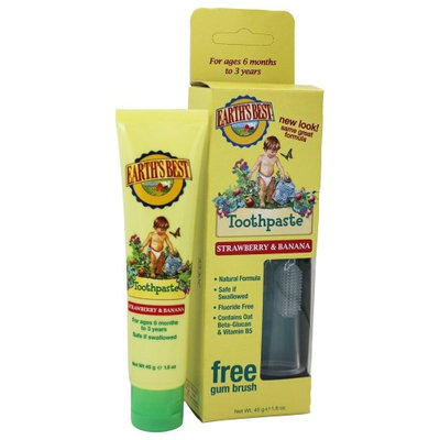 Earths Pride Earth's Best - Toddler Toothpaste by Jason Natural Products Strawberry & Banana - 1.6 oz.(pck of 1)