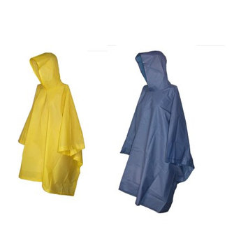 totes ISOTONER Unisex Rain Poncho with Hood (Pack of 2), Navy/Yellow