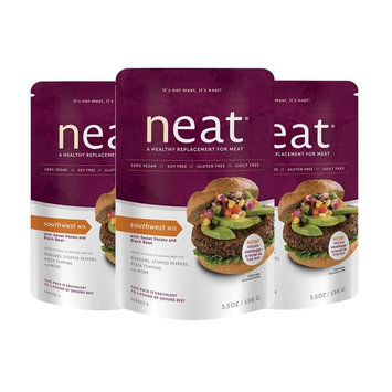 neat - Plant-Based - Southwest Mix (5.5 oz.) (Pack of 3) - Non-GMO, Gluten-Free, Soy Free, Meat Substitute Mix