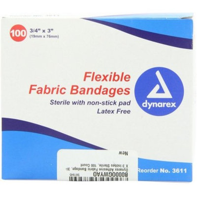 Dynarex Flexible Fabric Bandages, 3/4