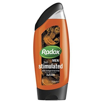 Radox Men Feel Stimulated Orange and Tea Tree 2in1 Shower Gel 250ml by Radox