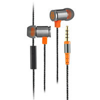 Cliptec Orange BULLET Gaming Stereo 3.5 Wired In-Ear Headphones Noise Isolation In-line Control /Mic