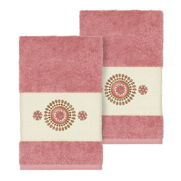 Linum Home Textiles Turkish Cotton Isabelle Embellished Hand Towel Set