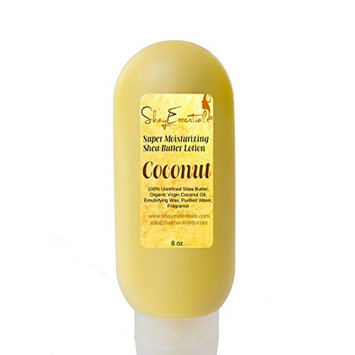100% Pure Unrefined African Shea Butter Moisturizing Lotion with Organic Virgin Coconut Oil (Coconut, 8oz)