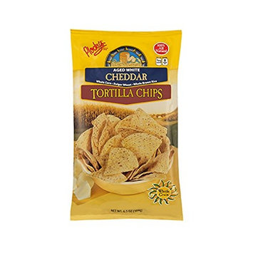 Plocky's Tortilla Chips, Aged White Cheddar, 6.5-Ounce Bags (Pack of 12)
