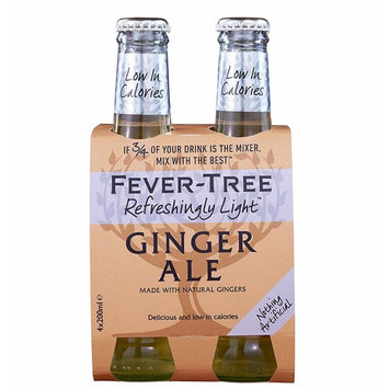 Fever-Tree Refreshingly Light Ginger Ale, No Artificial Sweeteners, Flavourings or Preservatives, 6.8 Fl Oz (Pack of 24)