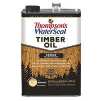 Thompson's Waterseal Thompsons Waterseal 227495 CedarTransparent Penetrating Timber Oil Exterior, 1 Gallon (Pack of 4)