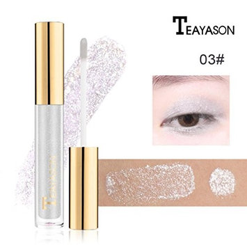 YOYORI 8 Color Magnificent Metals Glitter and Glow,Long-lasting,Water-tight and Waterproof Glitter Liquid Eyeshadow Makeup