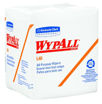 WypAll L40 Task Wipe Light Duty Disposable 12 X 12.5 Inch Case of 1008, 8 Pack