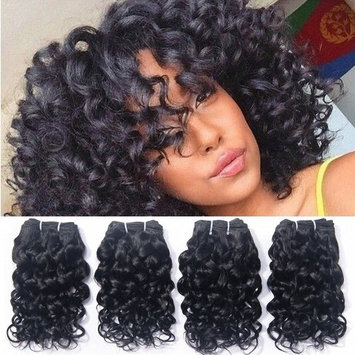 Brazilian Human Hair Virgin Remy Unprocessed Curly Weave 4 Bundles 8A Grade Cheap Wet And Wavy Extensions Italian Curl 50g/Pc Natural Black Color 8 8 8 8 Inch