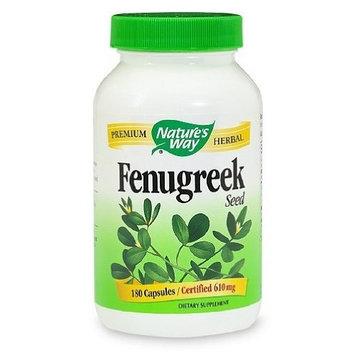 Natures Way Fenugreek Seed, 610 milligrams Per Cap, 180 Vegetarian Capsules