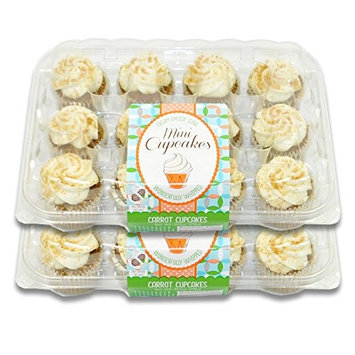 Fresh Baked Mini Cupcakes- 2 Packages (Carrot)