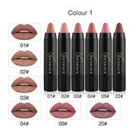 Sexy Lipstick Set, WuyiMC 6Pcs Long-lasting Velvet Matte Pencil Crayon Makeup Lip Gloss Set