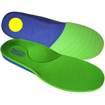 FootMatters Stabilizer Support Orthotic Insoles - Arch Support, Metatarsal and Heel Cradle Help Relieve Plantar Fasciitis & Other Foot Pain with Anti-Fatigue Technology - Medium