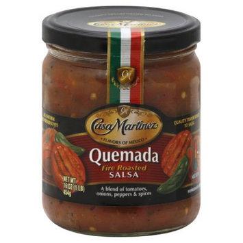 Casa Martinez Medium Quemada Fire Roasted Salsa, 16 Oz (Pack of 6)