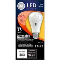 General Electric 67500 Dimmable LED Light Bulb - 6 watt/40 watt ~ Soft White