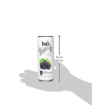 Bai Bubbles, Sparkling Water, Bogotá Blackberry Lime, Antioxidant Infused Drinks, 11.5 Fluid Ounce Cans, 12 count []