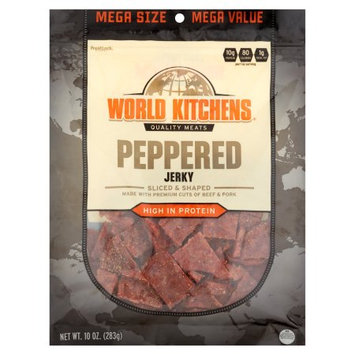 World Kitchens Peppered Jerky, 10 oz