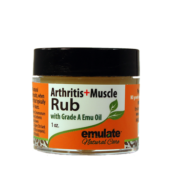 Emu Oil Arthritis & Muscle Rub with MSM emulate Natural Care 1 oz Cream