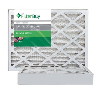 AFB Silver MERV 8 8x16x4 Pleated AC Furnace Air Filter. Filters. 100% produced in the USA. (Pack of 2)