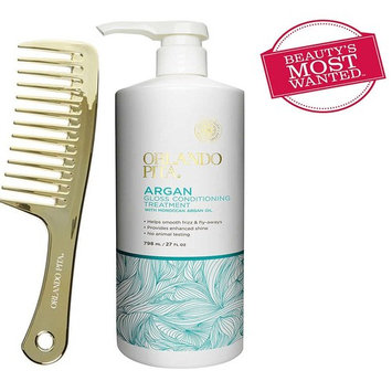 Orlando Pita Moroccan Argan Oil Gloss Conditioner and Gold Detangling Comb