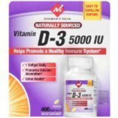 Member's Mark Vitamin D-3 5000 IU - 400 softgels