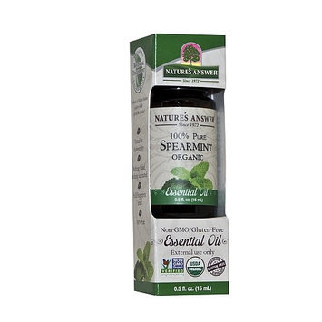 Nature's Answer 100% Pure Organic Essential Oil, 0.5-Ounce, Spearmint [Spearmint]