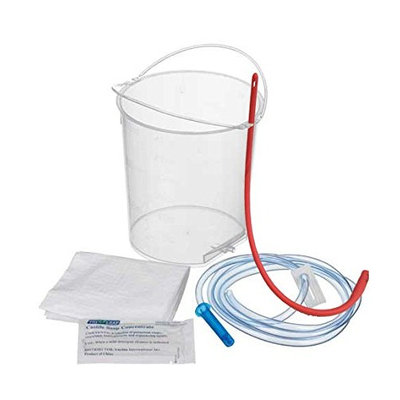 Cor-Vital BPA Free Reusable Enema Bucket with Reinforced Handles and Recipe for Organic Green Coffee DETOX - Red Tube