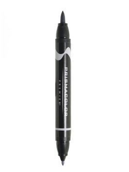 Prismacolor Premier Double-Ended Brush Tip Markers neutral grey 20%, 217 [pack of 6]