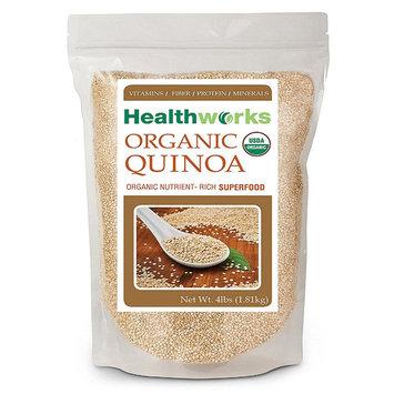 Healthworks Quinoa White Whole Grain Raw Organic, 4 lb (64 oz)