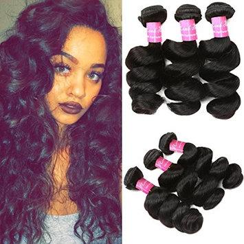 Mink Hair 7A Peruvian Loose Wave Bundles (10 12 14) Unprocessed Virgin Loose Wave Human Hair Weave Bundles Natural Color