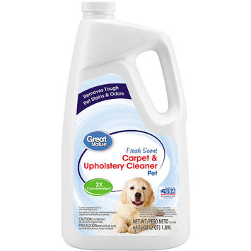 Great Value Pet Carpet & Upholstery Cleaner, 64 oz