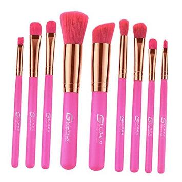 SunniMix Makeup Brushes 9 PCs Makeup Brush Set Premium Synthetic Foundation Brush Blending Face Powder Blush Concealers Eye Shadows Eyeliner...