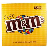 Product Of M&M, Peanut Chocolate, Count 48 (1.74 oz) - Chocolate Candy / Grab Varieties & Flavors