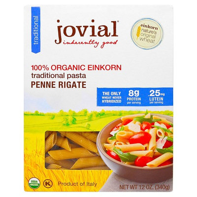Jovial, Organic Traditional Einkorn Pasta, Penne Rigate, 12 oz (340 g)(Pack of 3)
