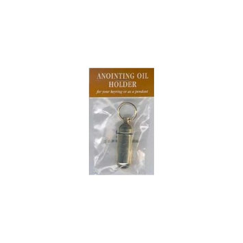 1 X Anoint Oil-Keyring Holder-Goldtone
