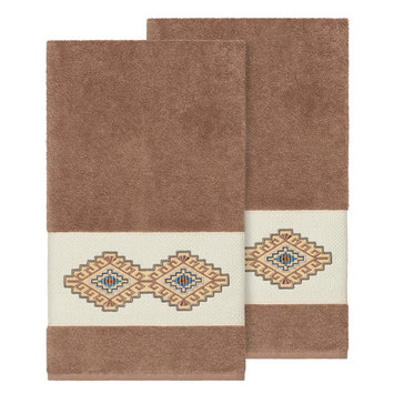 Linum Home Textiles Turkish Cotton Gianna Embellished Bath Towel Set