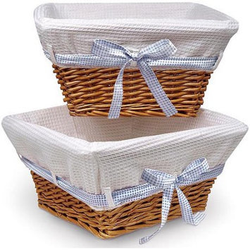 Badger Basket 0083 Wicker Baskets with Four Ribbons (2-pack)