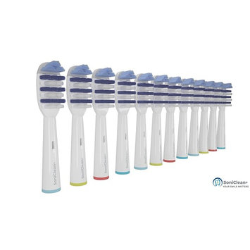 TOOTHBRUSH REPLACEMENT HEADS FOR ORAL B BRAUN DEEP SWEEP ELECTRIC TOOTHBRUSH COMPATIBLE WITH MOST ORAL B BRUSHES 12 pcs