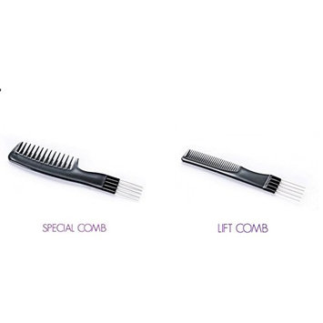 Comb Set-Lift Comb (3) and Special Comb (3) Set for Detangling, Lifting, Smoothing and Cutting Hair and Wigs